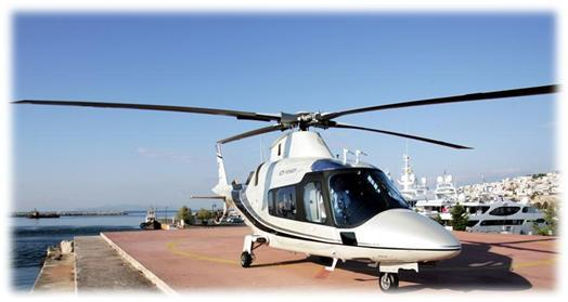 beautiful helicopter with nice white color