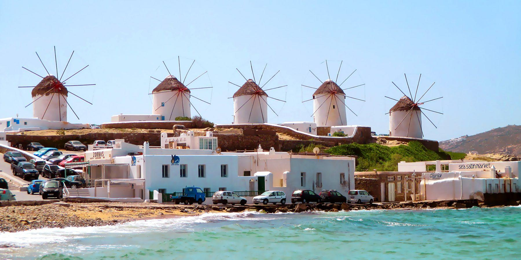 Windmills in Mykonos island