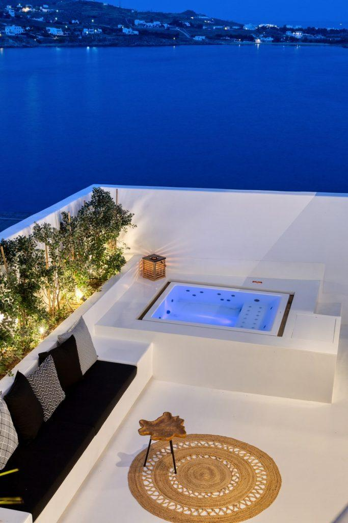 area with Jacuzzi and sofa for chilling