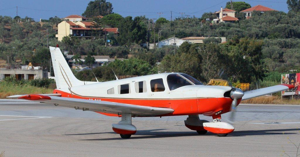small plane with unusual colors on it