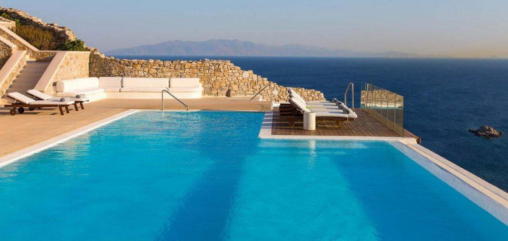 perfect place for sunbathing with a beautiful view of the bright blue sea