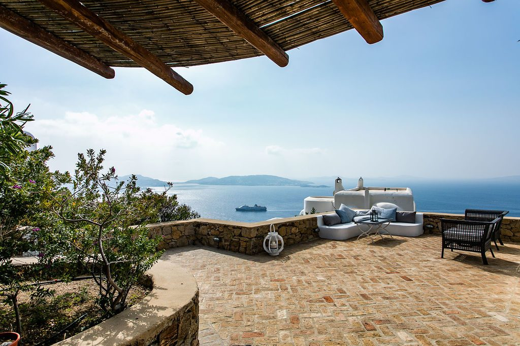 Villa Grace Agios Stefanos Mykonos Outdoors with the panoramic view 1