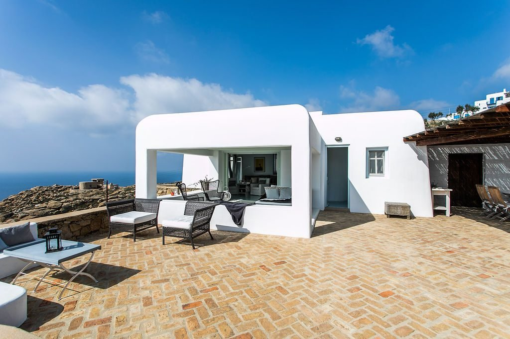 Villa Grace Agios Stefanos Mykonos Outdoors Lounge area 1