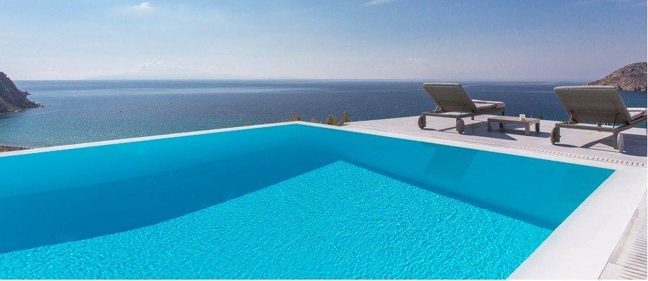 Villa Leandro Elia Mykonos Swimming pool, sun beds, panoramic view