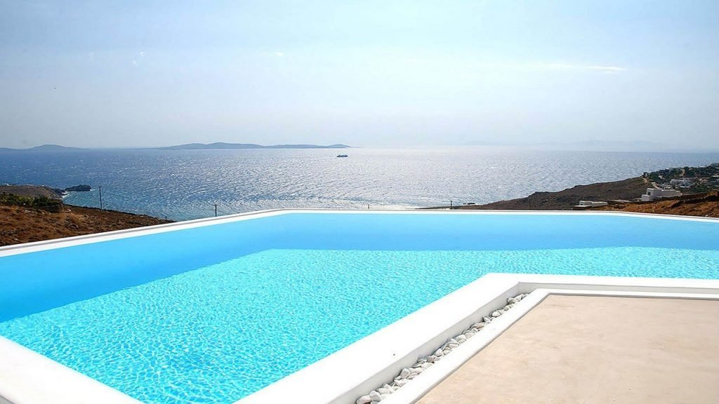 Villa Soto Houlakia Mykonos Swimming pool and the panoramic view