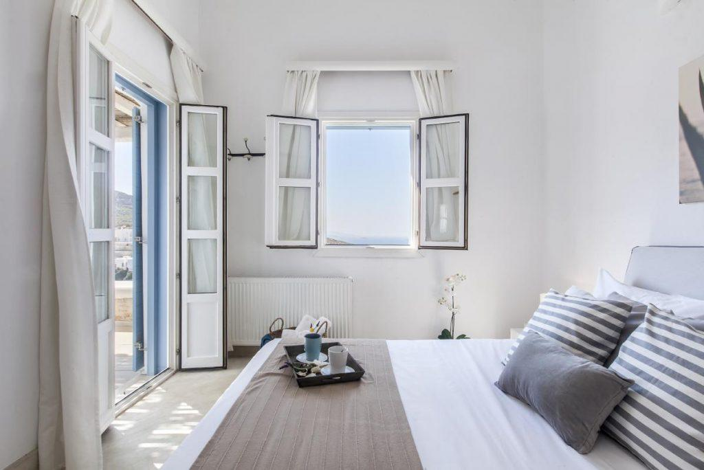 bedroom with daylight from window and terrace
