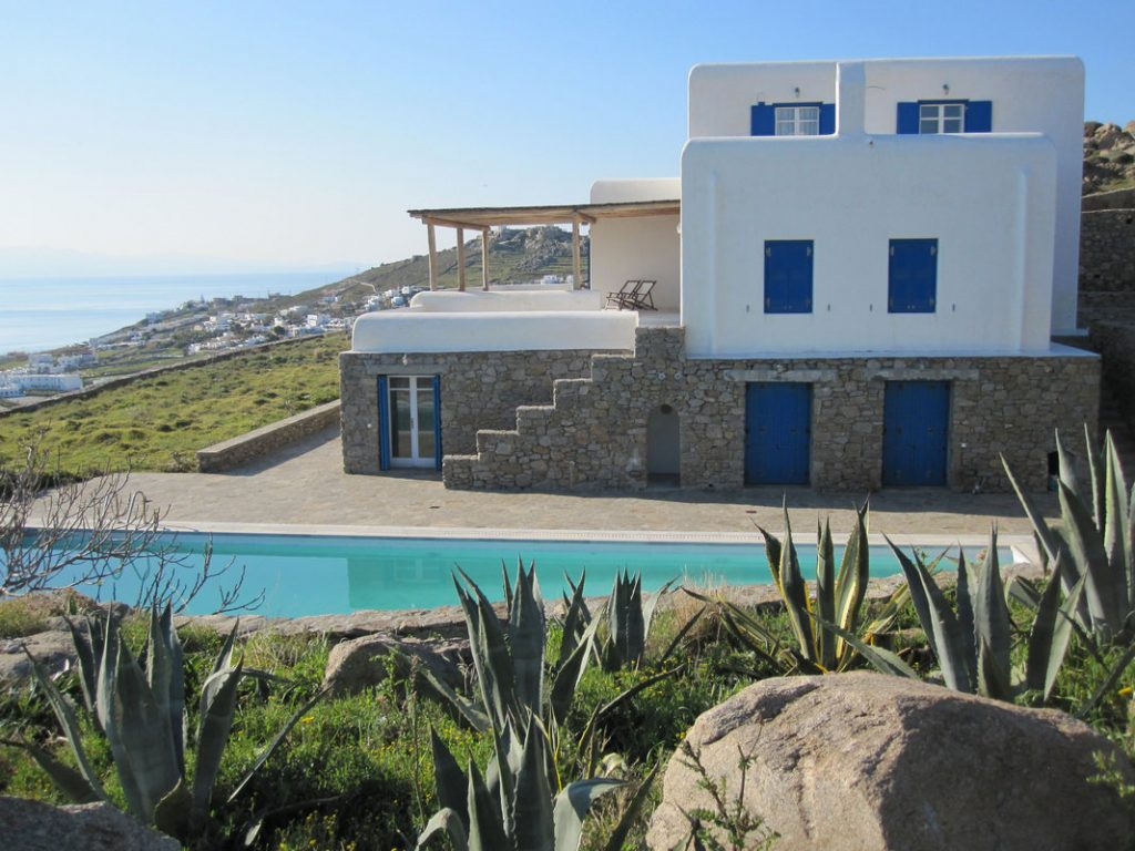 Villa Evelyn Kanalia Mykonos outdoors pool and the panoramic view 1