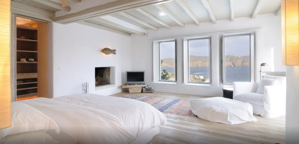 spacious bedroom with huge comfort bed and beautiful view