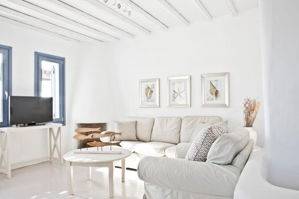 living area with white stuff and daylight