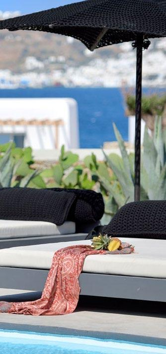 outdoor area with comfort climbers and black umbrella