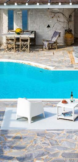 outdoor area with pool and white chair to sit in and relax