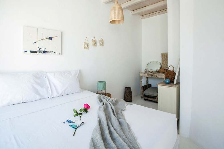 bedroom with wall paint and night lamps