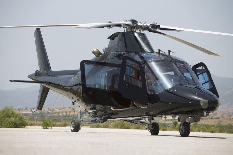 Agusta A109C, helicopter, exterior, heliodrom, parked, doors, propellers