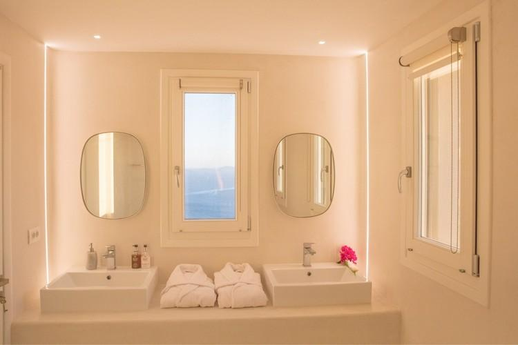 Villa_Nika_22.jpg Tourlos Mykonos 2nd Bathroom, mirror, washstand, window, sea