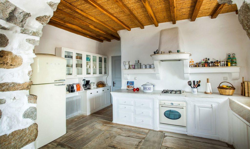 Villa Bob Agios Sostis Mykonos, kitchen, oven, fridge, drawers