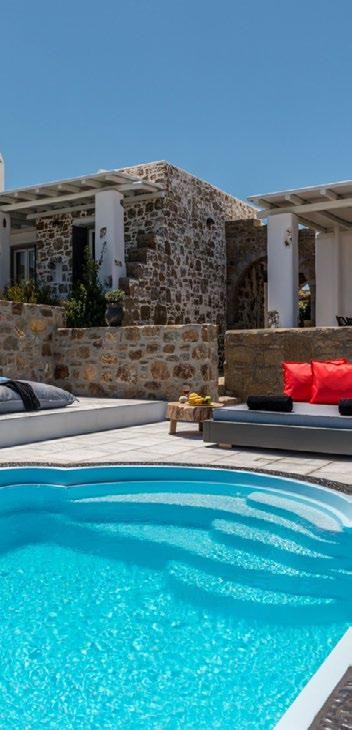 outdoor area with beautiful view of villa