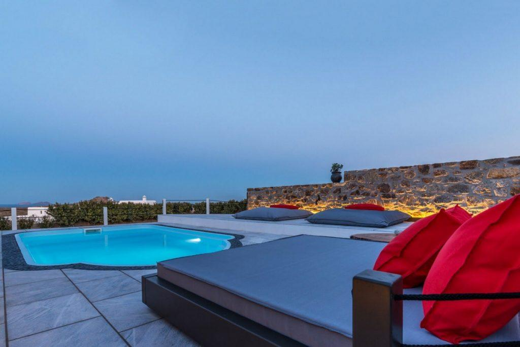 outdoor area with breathtaking infinity sea view