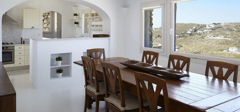 dining area for gathering with family to eat together