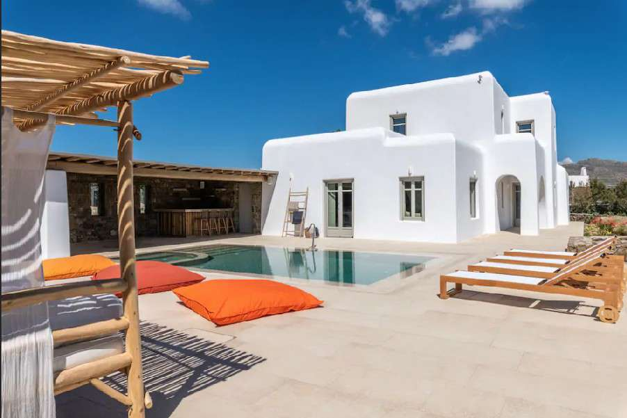 whitewashed villa offers cozy and careless experience