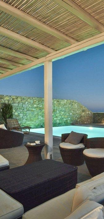 Villa-Aeneas-1_03.jpg Super Paradise Mykonos, outdoor, pool, climber, sofa, pillows, chairs, table