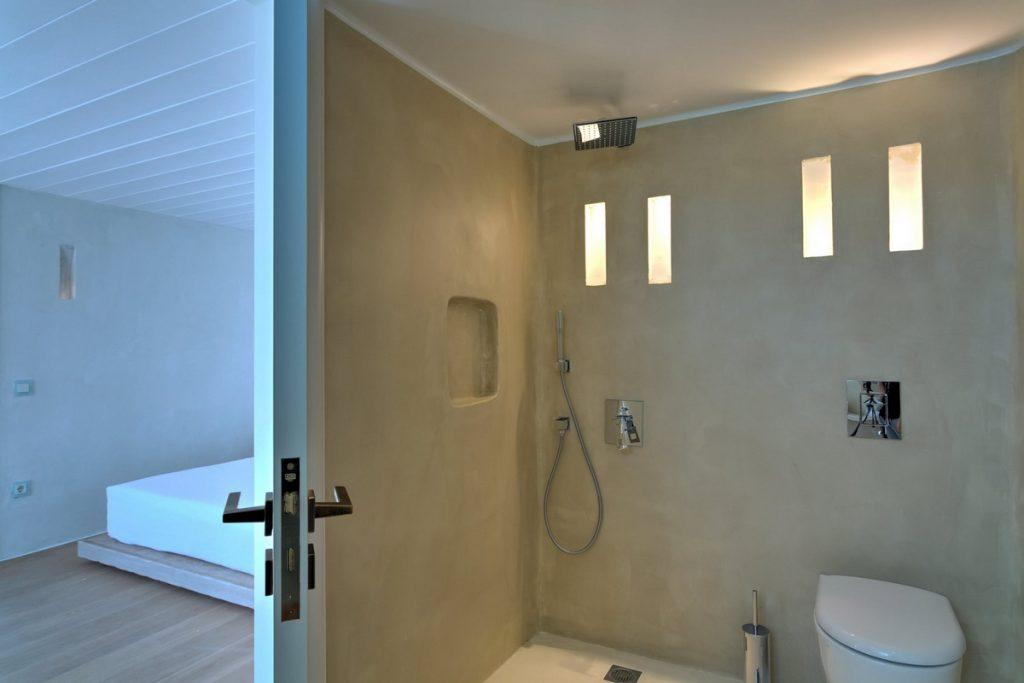modern bathroom with shower and toilet