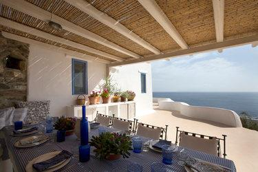 Villa Cleo, Lia, Mykonos, Chairs, Table, Sea view, Sky