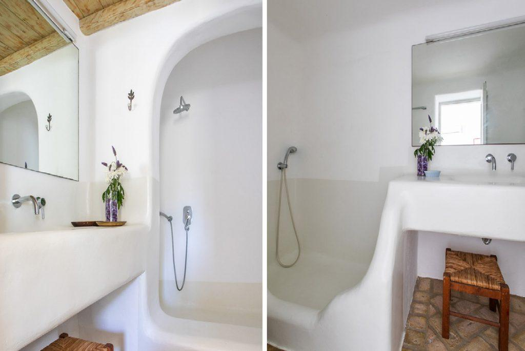 beautifully bathroom with huge mirror and daylight
