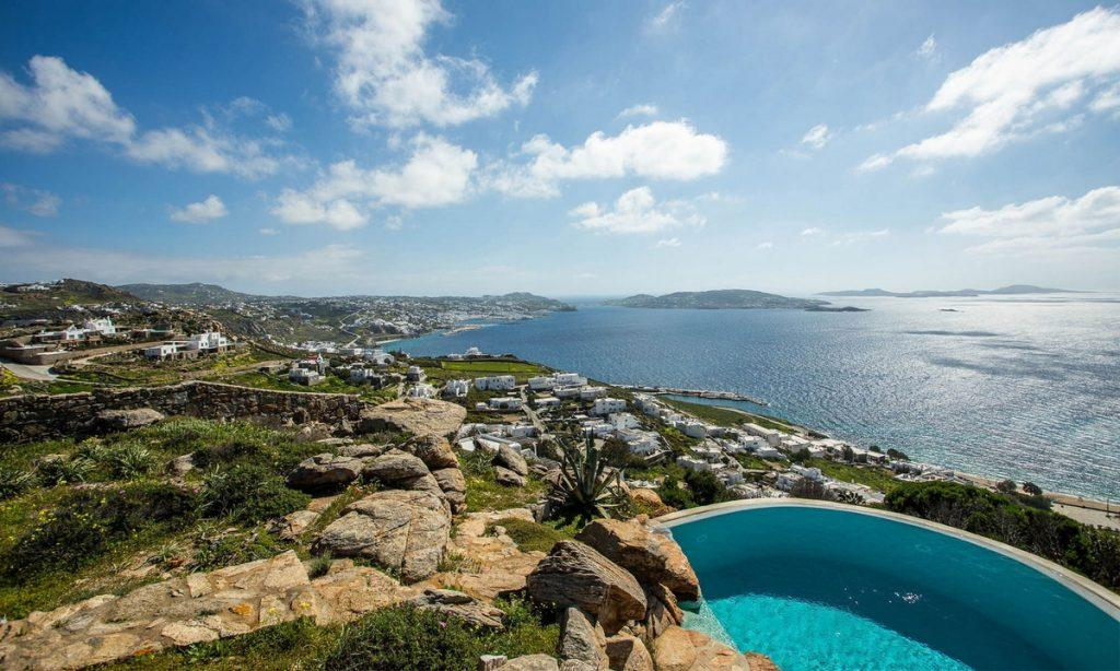 Villa-Greta_37.jpg Tourlos Mykonos Outdoor, pool, hill, sea, sky, rock
