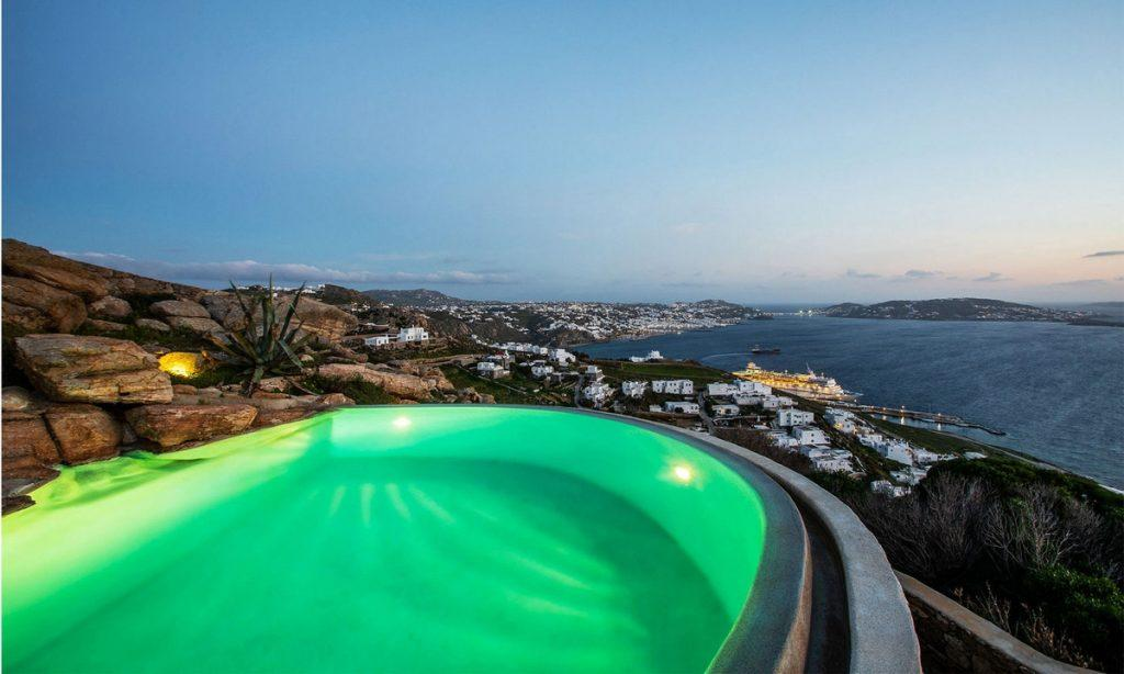 Villa-Greta_40.jpg Tourlos Mykonos Outdoor, pool, hill, sea, sky