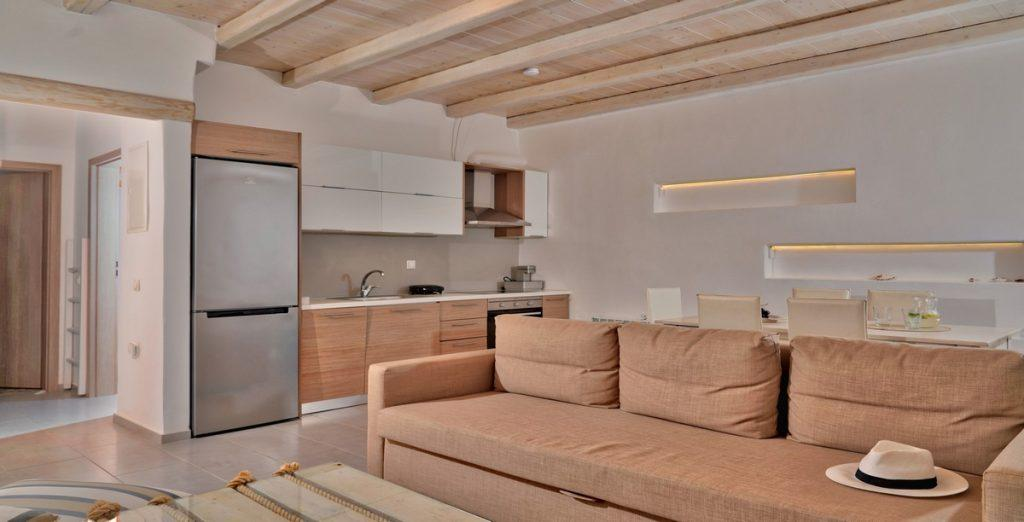 modern designed living area with a beige color prevailing