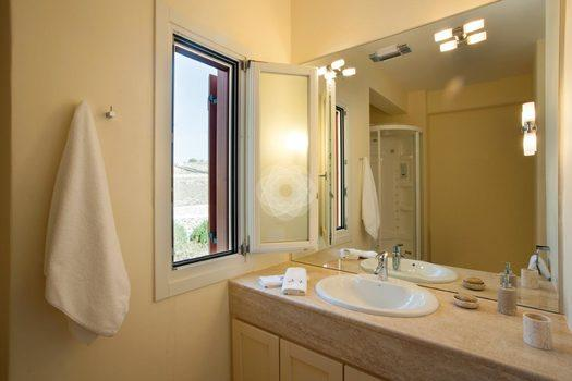 Villa-Lois_11.jpg Aleomandra Mykonos, 2nd bathroom, mirror, washstand, towel, window, towels, soap