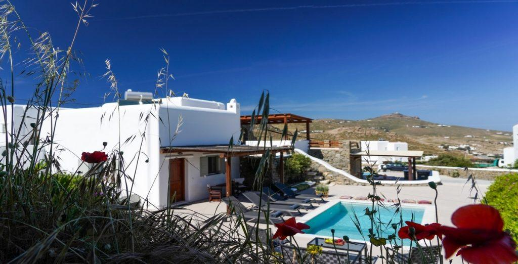 view of the exterior of the villa and its beauty with the things it has to offer