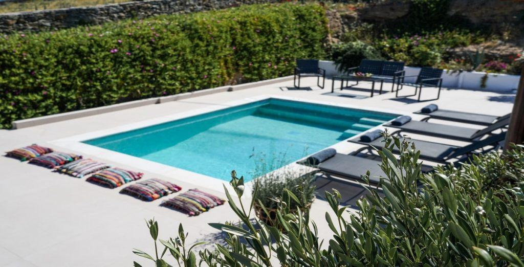 outdoor area with swimming pool and climbers