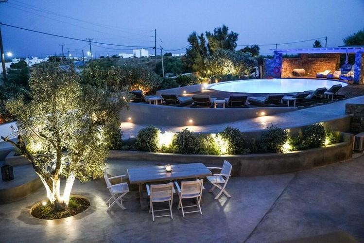 outdoor area with beautiful illuminated space