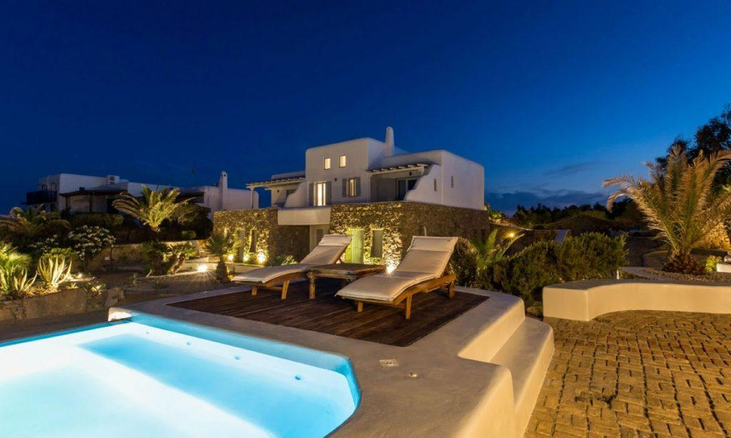 Villa Aggie I Paraga Mykonos, Outdoor View, Pool, Terrace, Sunbeds
