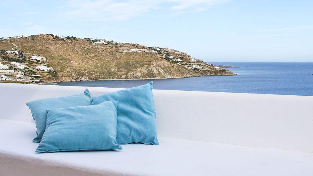 outdoor area to rest on bench and enjoy in beautiful sea view