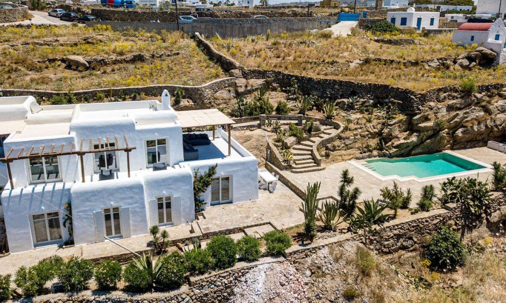Villa Gael I Chora, Mykonos, Outdoor View, Pool, Stairs, Plants