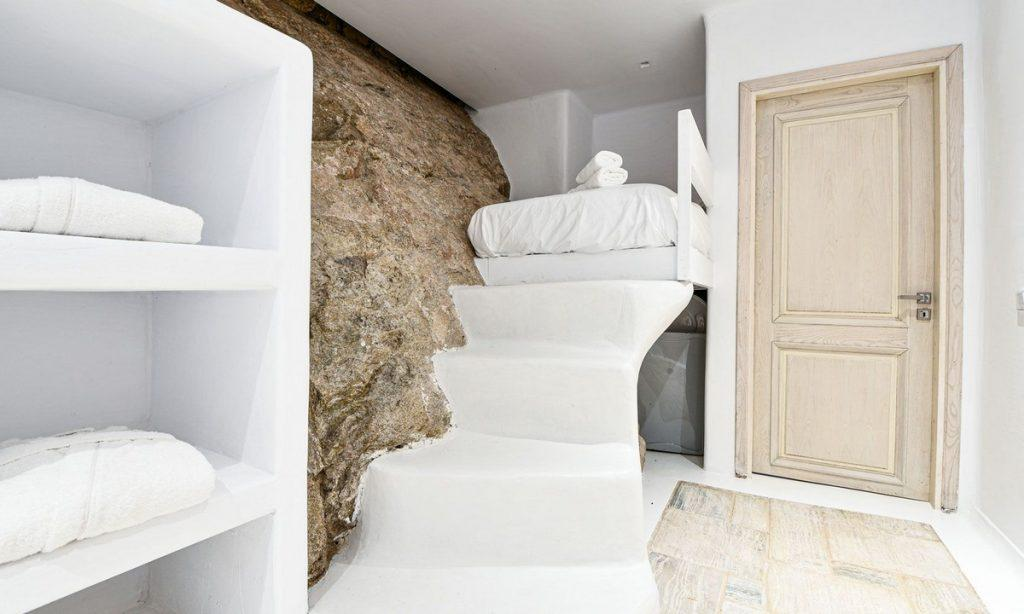 Villa Gael I Chora, Mykonos, Closet, Stairs, Bed, Door