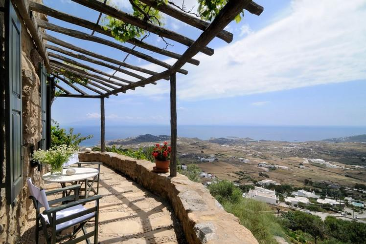 terrace with canopy and breathtaking view
