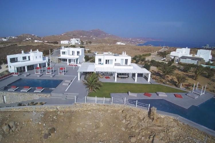 Villa Megan I Kalo Livadi, Mykonos, Outdoor View, Terrace, Lazy bag, Sea view, Palm
