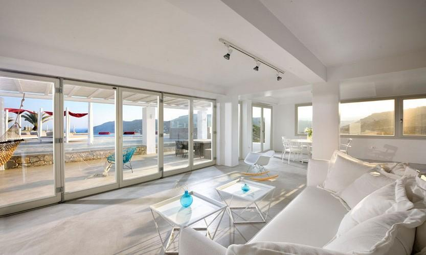 Villa Megan I Kalo Livadi, Mykonos, Outdoor view, Tables, Hammock