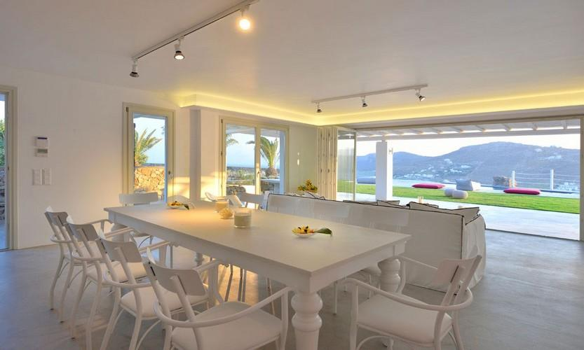 Villa Megan I Kalo Livadi, Mykonos, Outdoor view, Tables, Dining romm, Lazy bags
