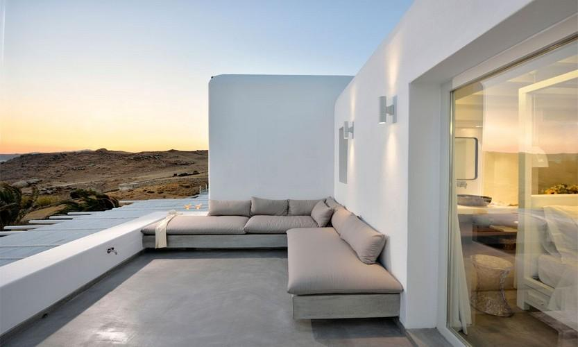 Villa Megan I Kalo Livadi, Mykonos, Outdoor view, Sofa, Terrace