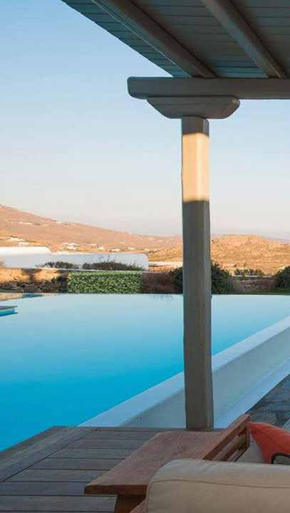 view of infinity poll and mykonos island