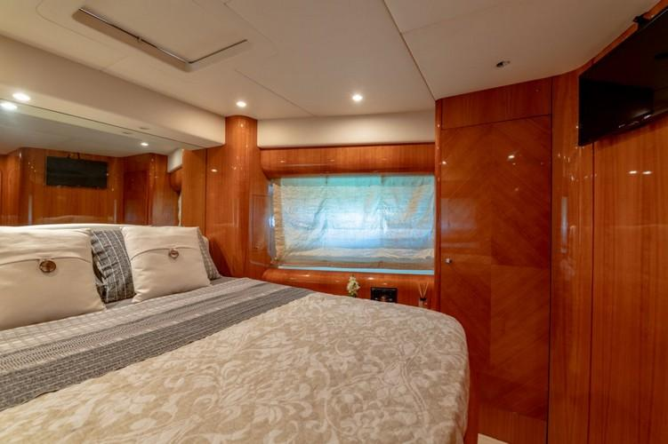 Yacht_VenusSecret_17.jpg Mykonos 1st Bedroom, bed, flat screen tv, pillows