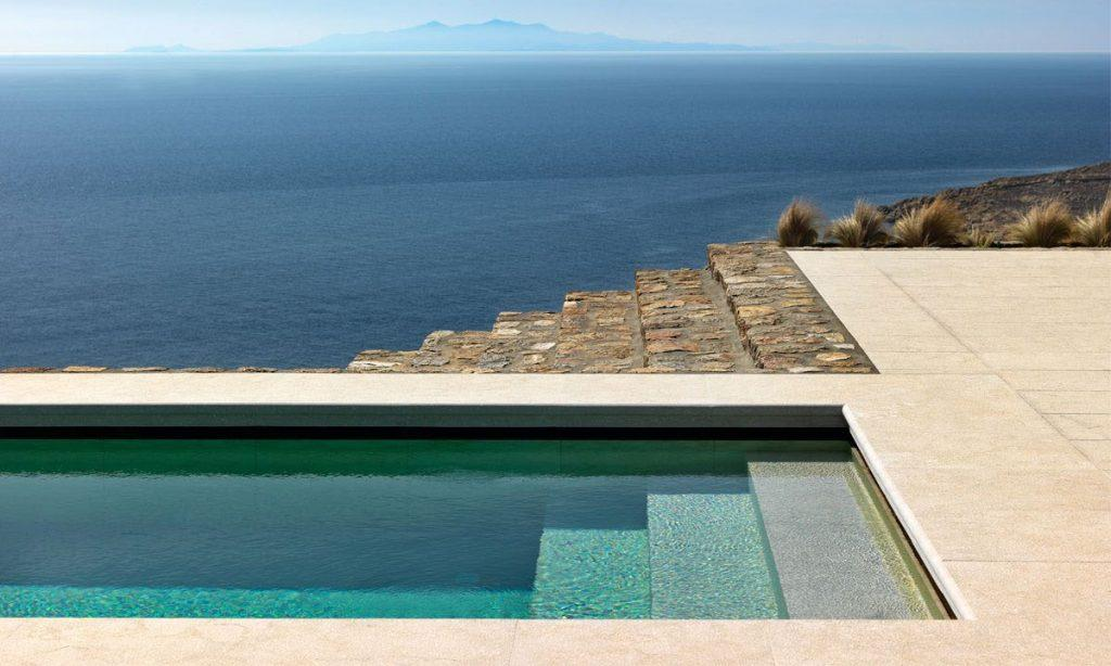 Villa Raisa Super Paradise Mykonos ,outdoor, pool, sea, sky, panoramic view, horizon