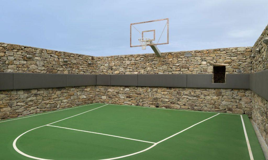 Villa Raisa Super Paradise Mykonos, outdoor, basketball court, hoop, sky