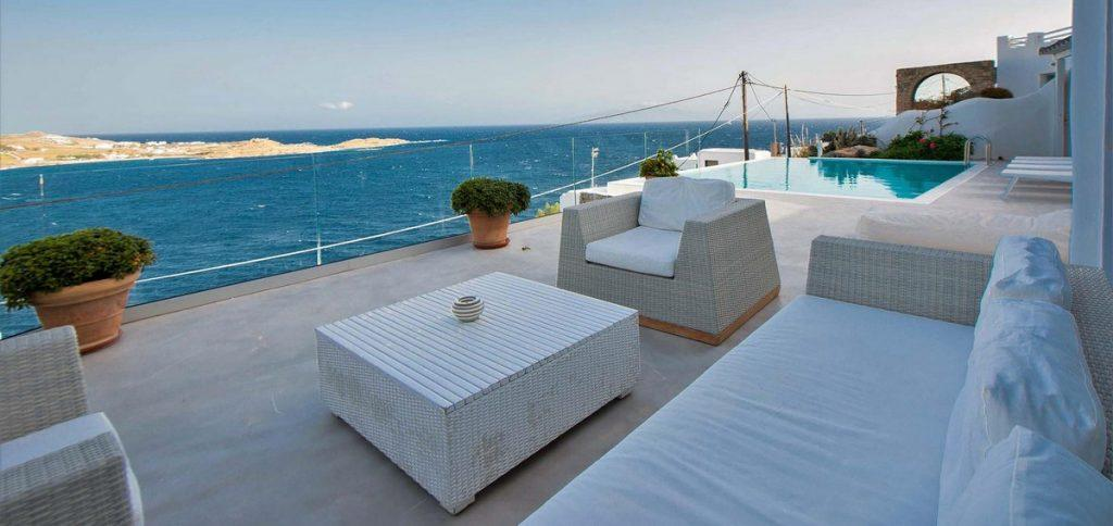 outdoor area with soft bed for relaxing and enjoying the view