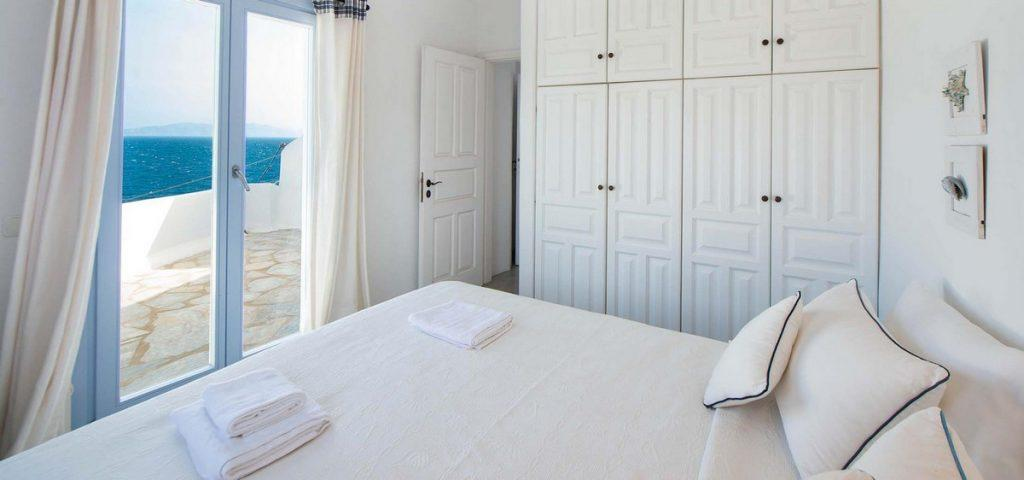 room with a breathtaking view of mykonos and sea