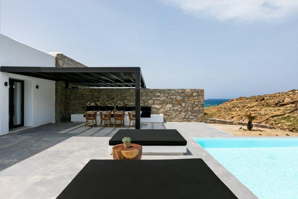 outdoor area with black soft climbers and nice sky view